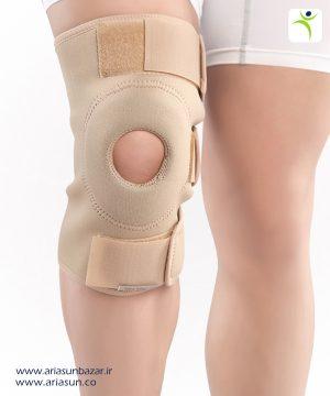 زانو-بند-نئوپرنی-ساده-با-استرپ-Neoprene-Knee-Support-