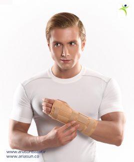مچ-بند-آتل-دار-بلند-با-زاويه-فانكشنال-(چپ-و-راست)-Long-Wrist-Splint-with-Hard-Bar--