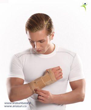 مچ-بند-نئوپرنی-آتل-دار-با-زاويه-فانكشنال-(چپ-و-راست)-Neoprene-Wrist-Splint-with-Hard-Bar-