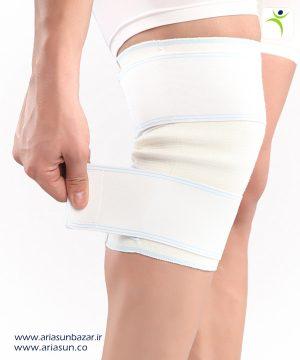 زانوبند-ساده-پشمی-(با-تنظيم-فشار)-Woolen-Knee-Support-with-Adjustable-Straps-