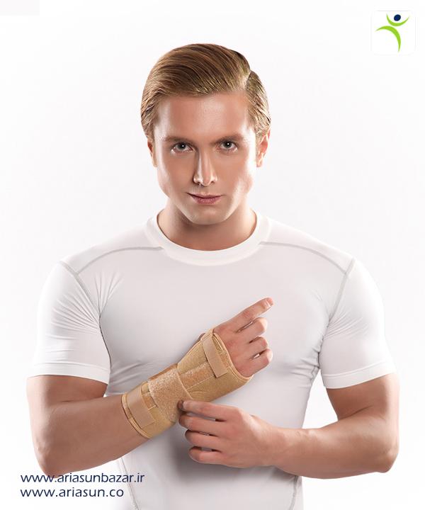 مچ-بند-آتل-دار-كوتاه-با-زاويه-فانكشنال-(چپ-و-راست)-Wrist-Splint-with-Hard-Bar-