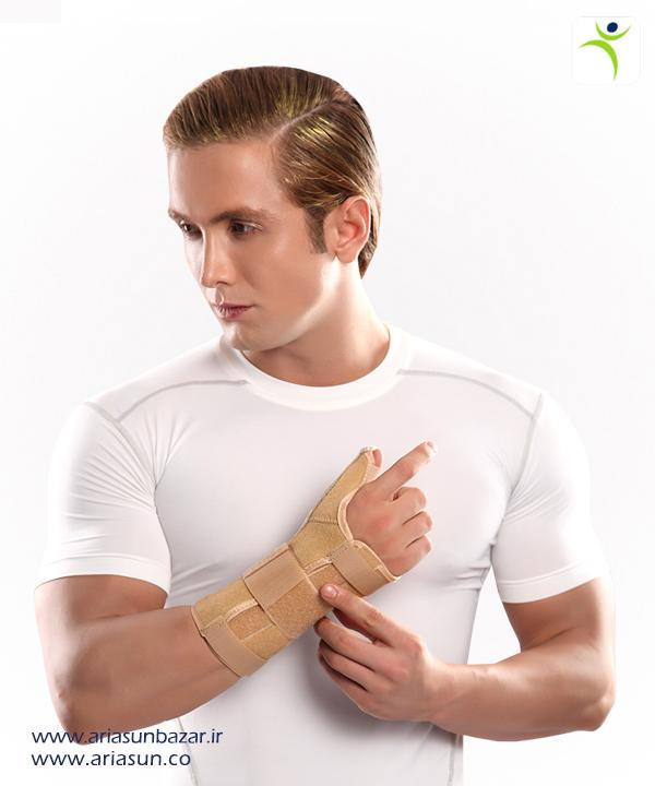 مچ-شست-بند-آتل-د-ار-(چپ-و-راست)-Wrist-Thumb-Splint-with-Hard-Bar-