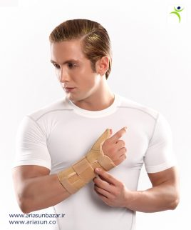 مچ-شست-بند-نئوپرنی-آتل-دار-(چپ-و-راست)-Neoprene-Thumb-Wrist-Splint-with-Hard-Bar-